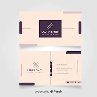 Абстрактный классический шаблон визитной карточки