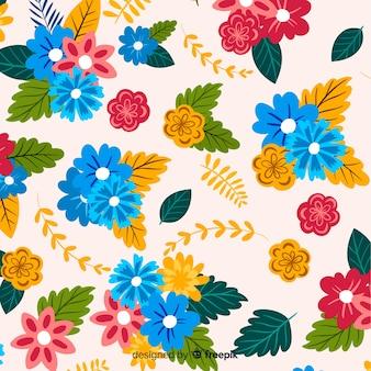 Естественный фон с яркими цветами