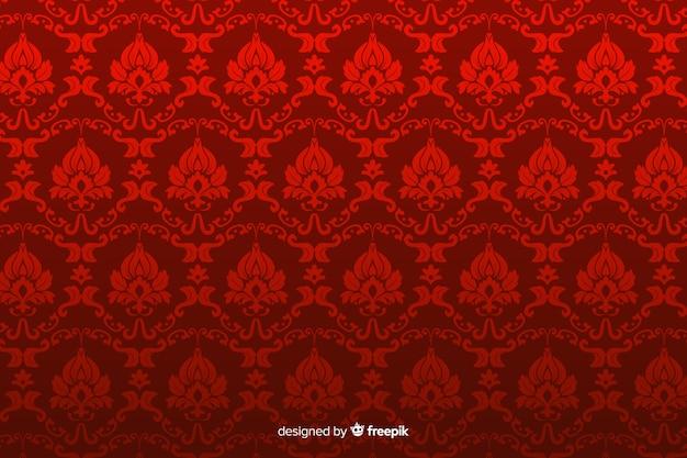 手描きの装飾的なダマスク織の背景