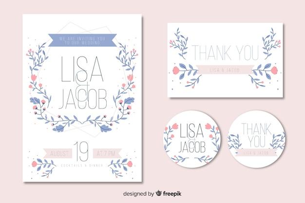 Цветочная рамка свадебного приглашения