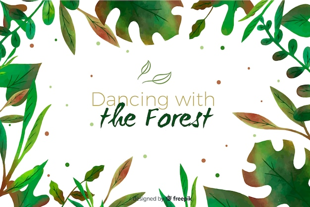 引用と緑の自然の背景