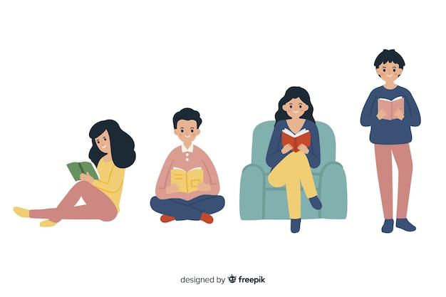 若い人たちの本のコレクションを読む