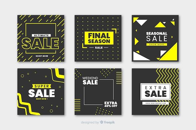 Современный баннер продаж для социальных сетей