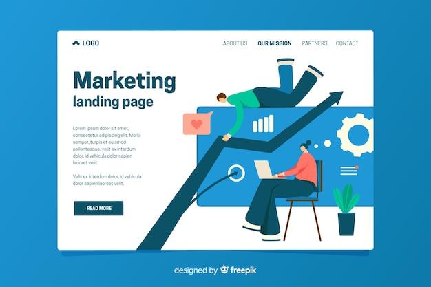 Шаблон целевой страницы маркетинга