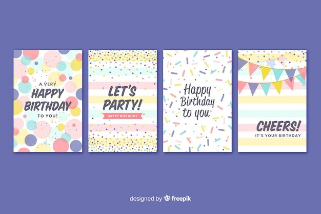 Коллекция поздравительных открыток в плоском стиле