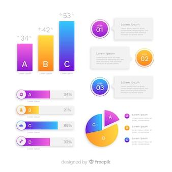 グラデーションスタイルのインフォグラフィックテンプレート