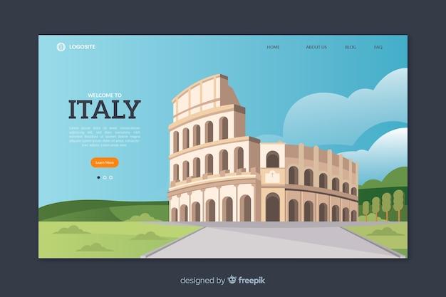 Добро пожаловать в шаблон целевой страницы италии