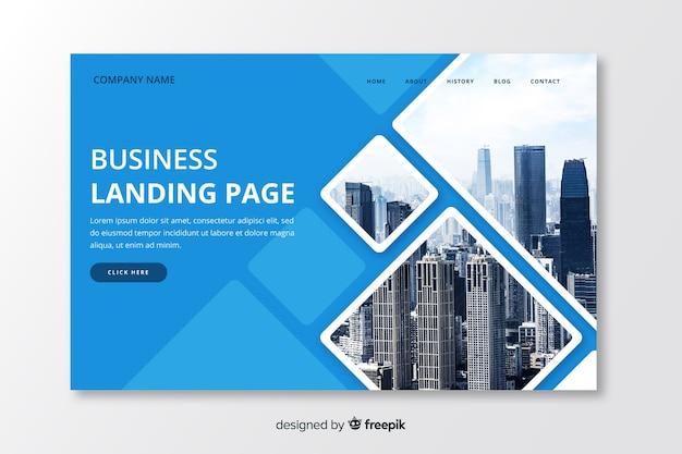 写真付きビジネスランディングページテンプレート