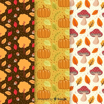 フラット秋パターンコレクションの葉