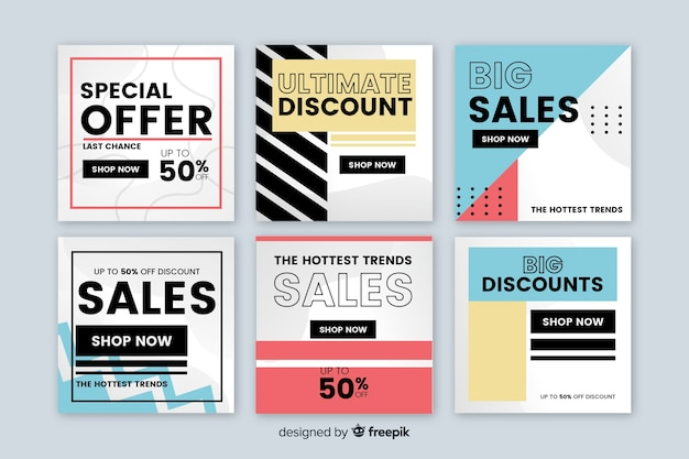 Современные баннеры продаж для социальных сетей