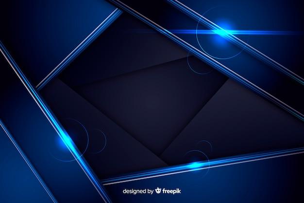 抽象的な光沢のあるメタリックブルーの背景