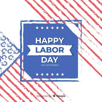 フラットスタイルのアメリカ労働者の日の背景