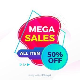 Красочный фон продаж геометрический дизайн