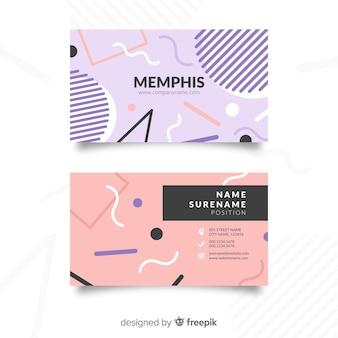 Шаблон визитной карточки в стиле мемфис