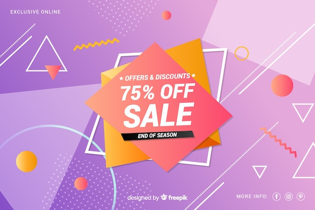 カラフルな販売の背景の幾何学的デザイン