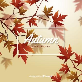 秋の装飾的な背景のリアルなスタイル