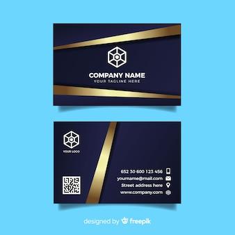 Элегантный золотой шаблон визитной карточки