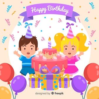 Симпатичный дизайн с днем рождения