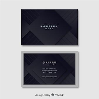 Шаблон визитной карточки в элегантном стиле