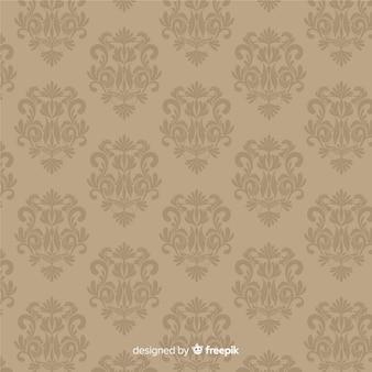 ダマスク織の背景手描きスタイル