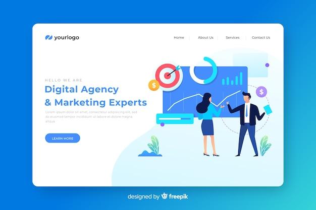 Шаблон целевой страницы цифрового маркетинга