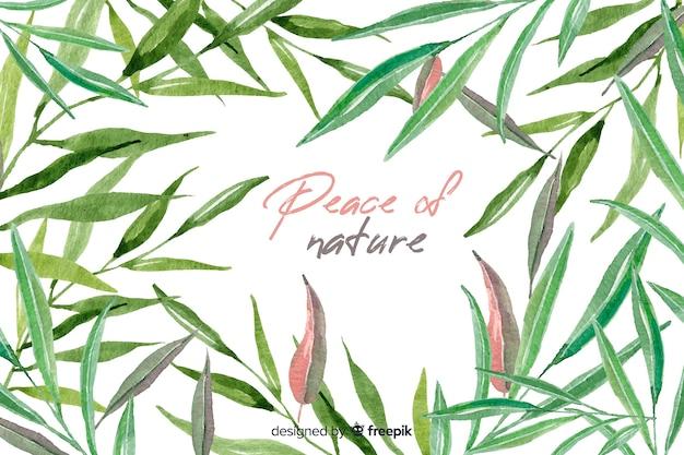 Естественный фон с цитатой