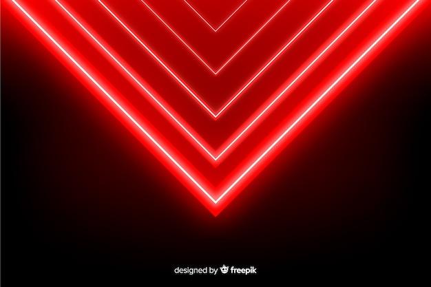 Геометрические красные огни фон реалистичный стиль