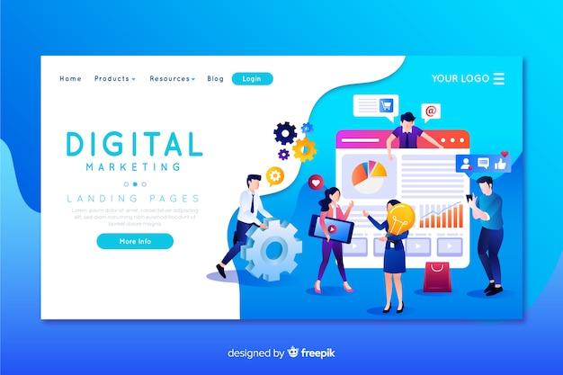 デジタルマーケティングのランディングページテンプレート