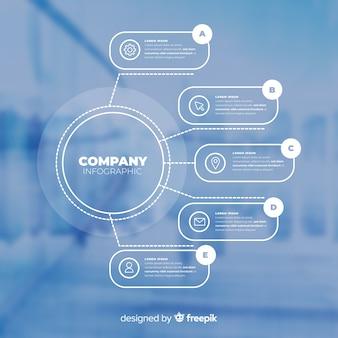 写真とビジネスのためのインフォグラフィックテンプレート