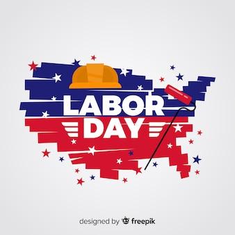 Плоский дизайн фон день труда