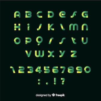 Шаблон градиента алфавит плоский дизайн