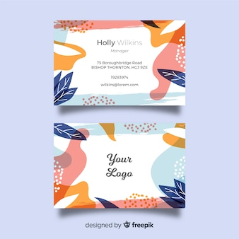 Шаблон визитки абстрактные формы