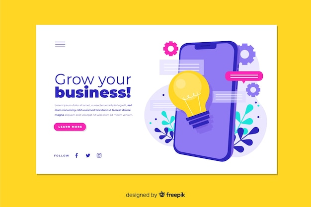 Шаблон бизнес-страницы