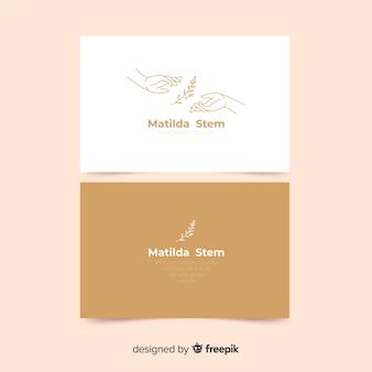Шаблон визитной карточки с растениями