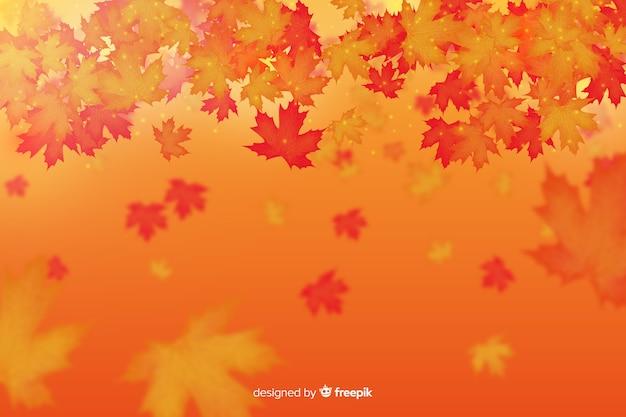 Осенние листья фон реалистичный стиль