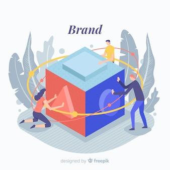 Концепция брендинга для целевой страницы
