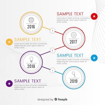 Инфографики шаблон с концепцией временной шкалы