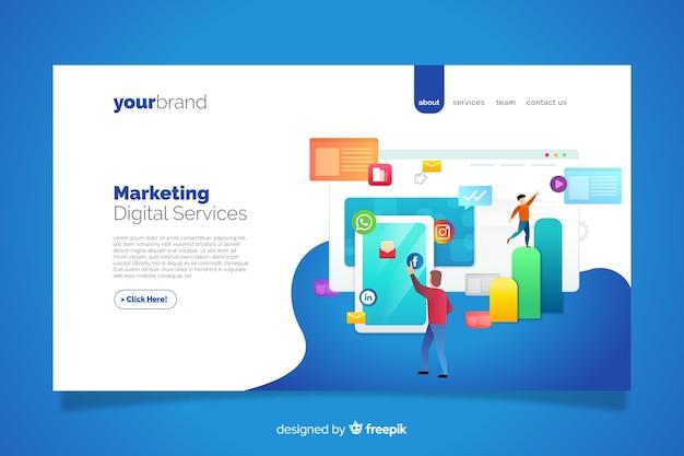 Шаблон целевой страницы для маркетинга