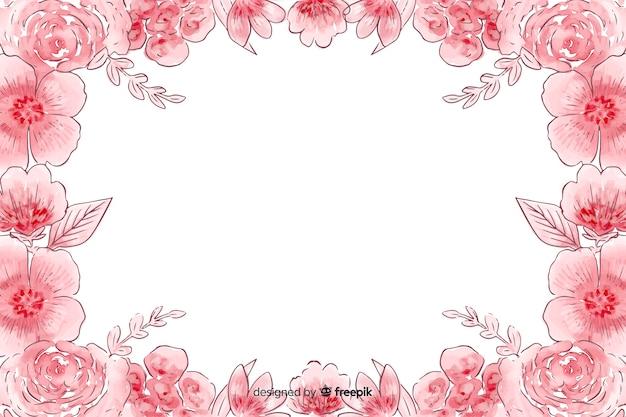 花の水彩画の自然な背景