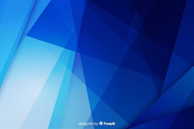 青い図形と抽象的な背景