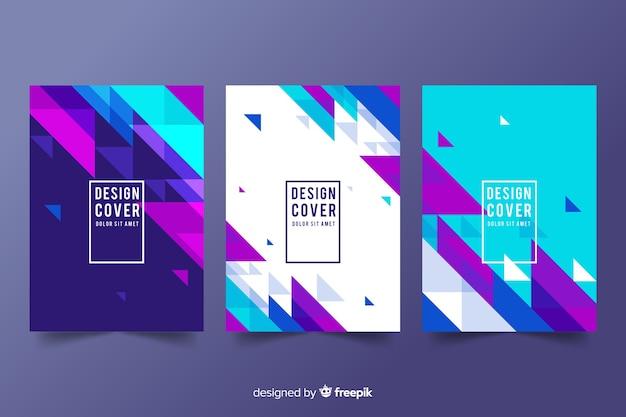 Дизайн обложки шаблонов с геометрическими фигурами