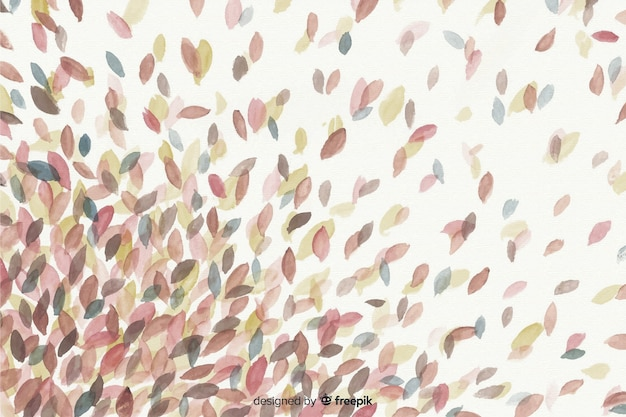 Осенний декоративный фон акварелью
