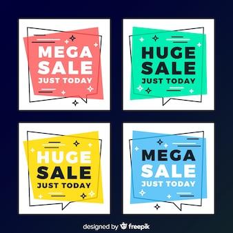 ソーシャルメディアのための現代の販売バナー