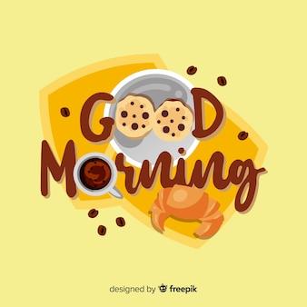 Красивый фон надписи доброе утро