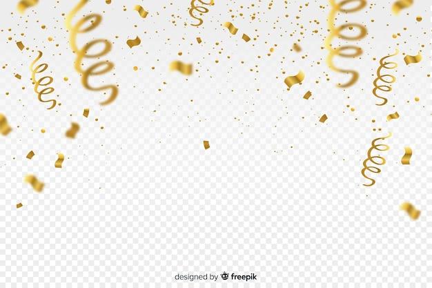 黄金の紙吹雪と豪華な背景