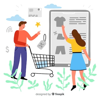 ランディングページのオンラインショッピングの概念
