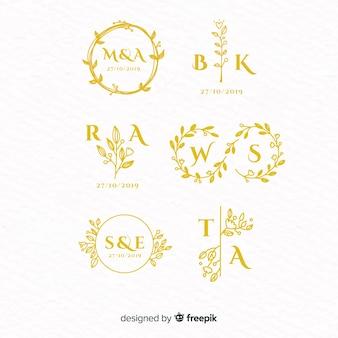 Свадебные монограммы логотип шаблоны коллекции