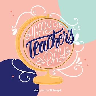 Всемирный день учителя фон надписи