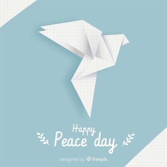 鳩と折り紙平和の日の背景