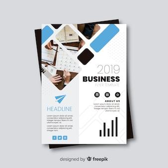 Бизнес флаер шаблон с мозаичным дизайном